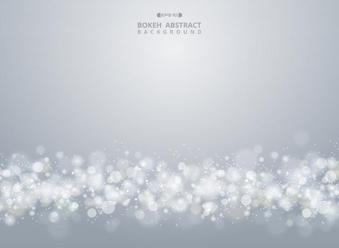 Abstrakt av julgradient grå bokeh bakgrund. vektor