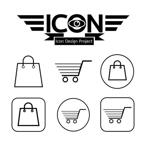 Einkaufswagen-Symbol vektor