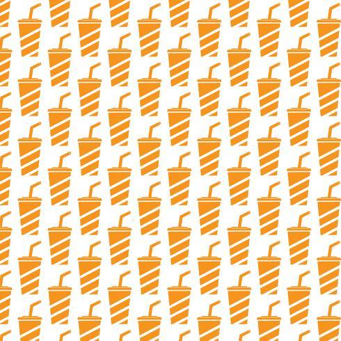 Alkoholfreies Getränk Symbol Muster Hintergrund vektor