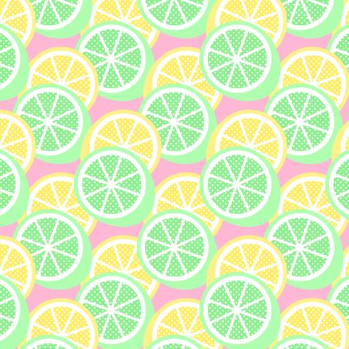 Citron och Lime Pop sömlös mönster vektor