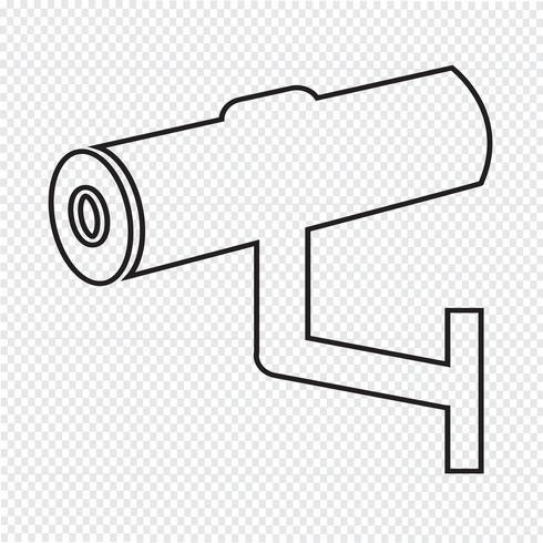 CCTV-Symbol, CCTV, Sicherheitssymbol, CCTV-Kamera vektor