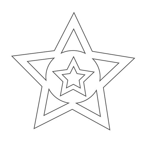 Lieblingssymbol Stern vektor