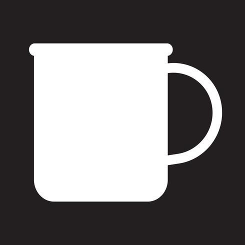 kopp te kaffe ikon vektor