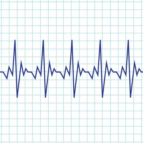 Herzschlag-Kardiogramm-Symbol vektor