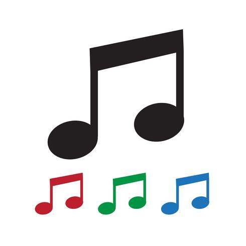 Musik Hinweissymbol vektor