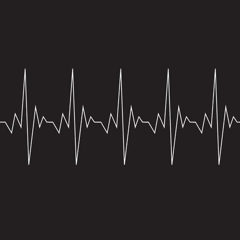 Hjärtslagskardiogramikon vektor
