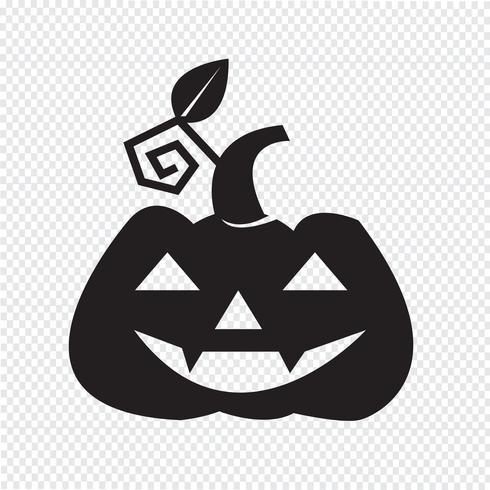 Halloween pumpa ikon vektor