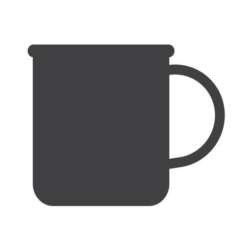 Tasse Tee Kaffee-Symbol vektor