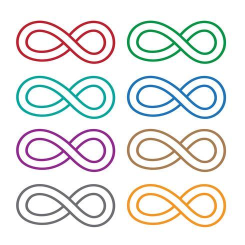 Obegränsad symbolikon vektor