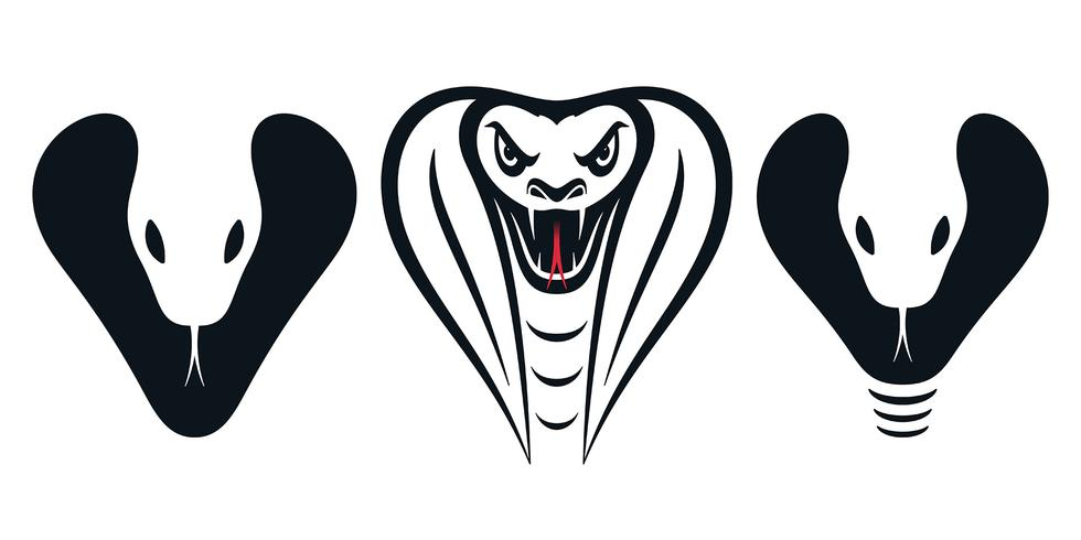 Cobra huvud ikoner vektor