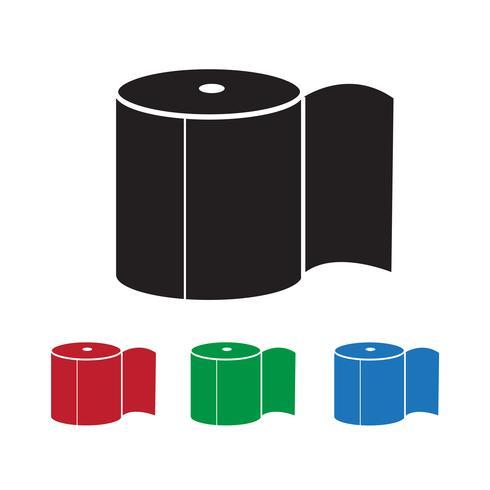Toilettenpapier-Symbol vektor