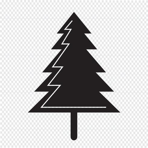 julgran ikon vektor