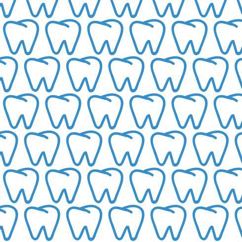 Tandmönster bakgrund vektor