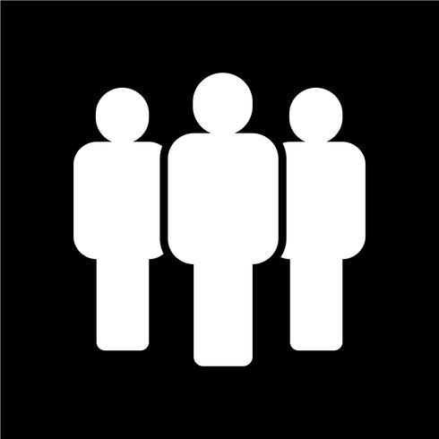Gruppe Menschen Symbol vektor