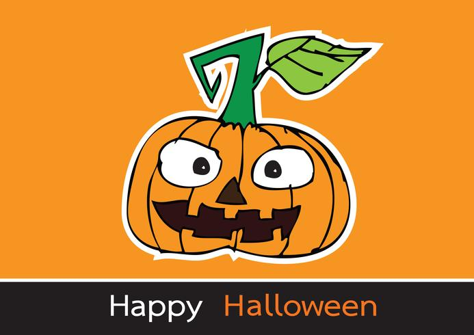 Halloween-Karte mit Kürbis vektor
