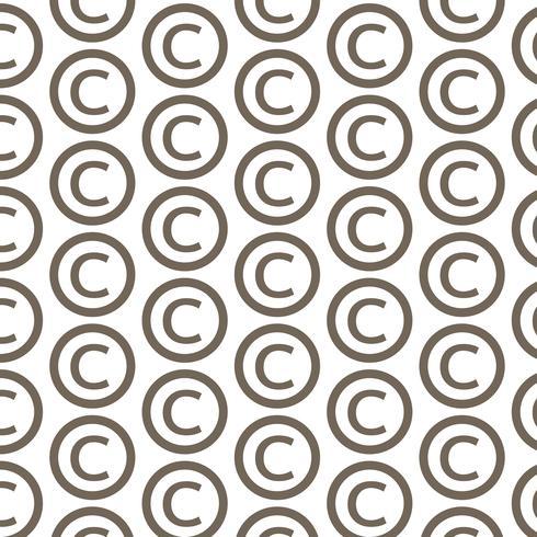 Mönster bakgrunds copyright symbolikon vektor