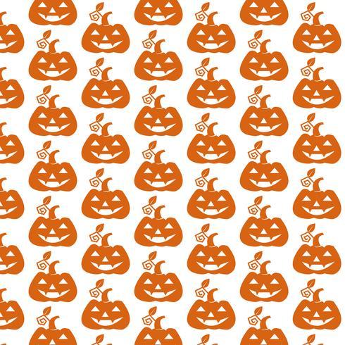 Mönster bakgrund Halloween pumpa ikon vektor