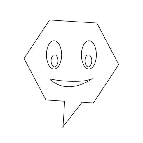 talande talbubbelsymbol vektor