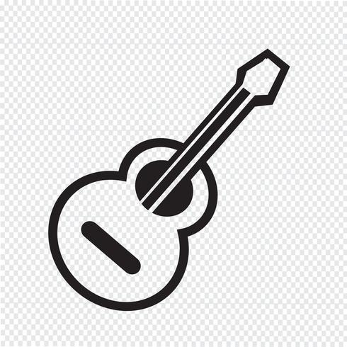 akustisk gitarrikon vektor