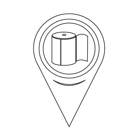 Kartenzeiger Toilettenpapier-Symbol vektor