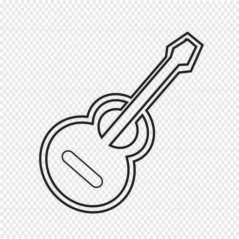 Akustische Gitarre-Symbol vektor