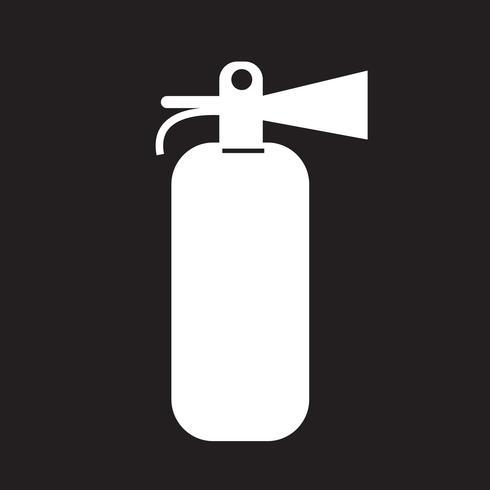 Brandsläckare ikon vektor