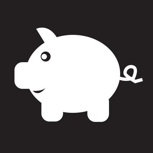 Sparschwein-Symbol vektor