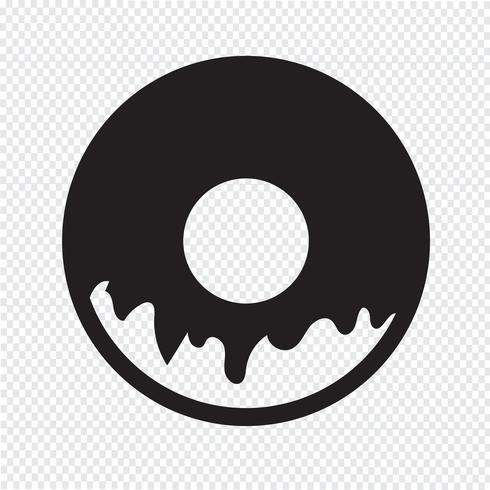 Donut-Symbol Symbol Zeichen vektor