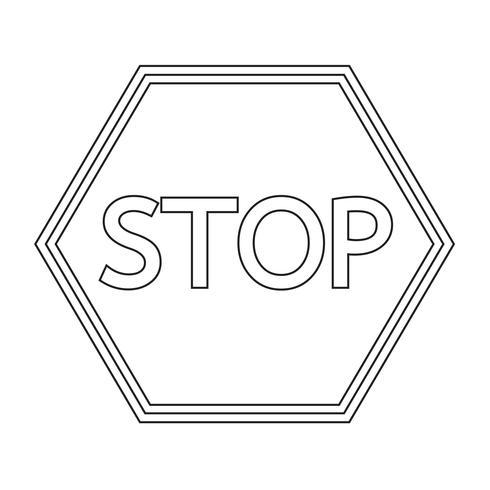 stoppa teckensymbolen vektor
