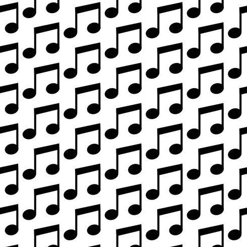 Musik-Anmerkungs-Ikonenmusterhintergrund vektor