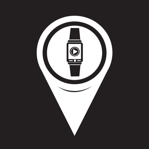 Kartenzeiger Smartwatch Wearable Icon vektor
