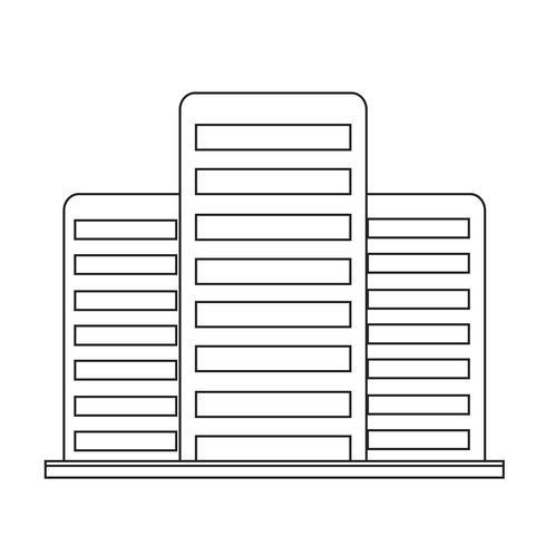 Bürogebäude-Symbol vektor