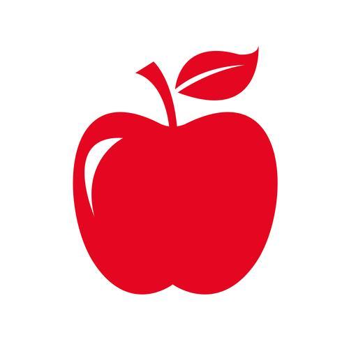 Apfel Symbol Symbol Zeichen vektor