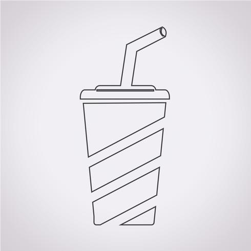 Alkoholfreies Getränk-Symbol vektor