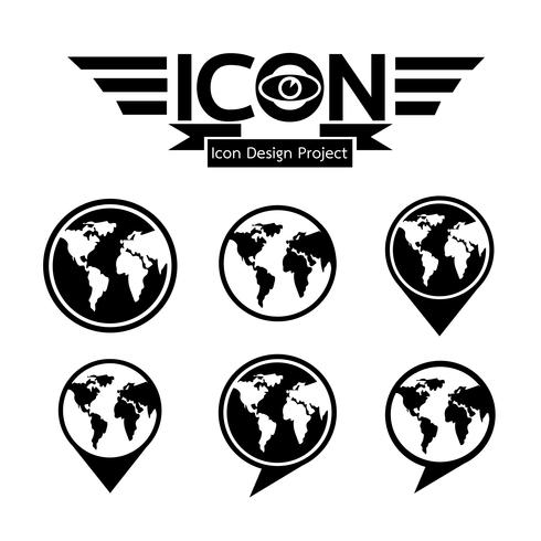 Globe ikon symbol tecken vektor