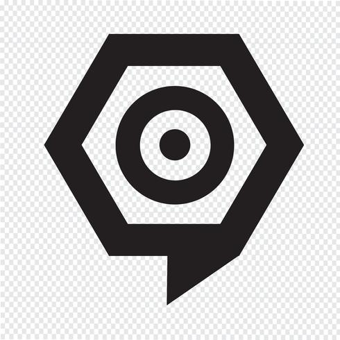 Zielsymbol Blase vektor