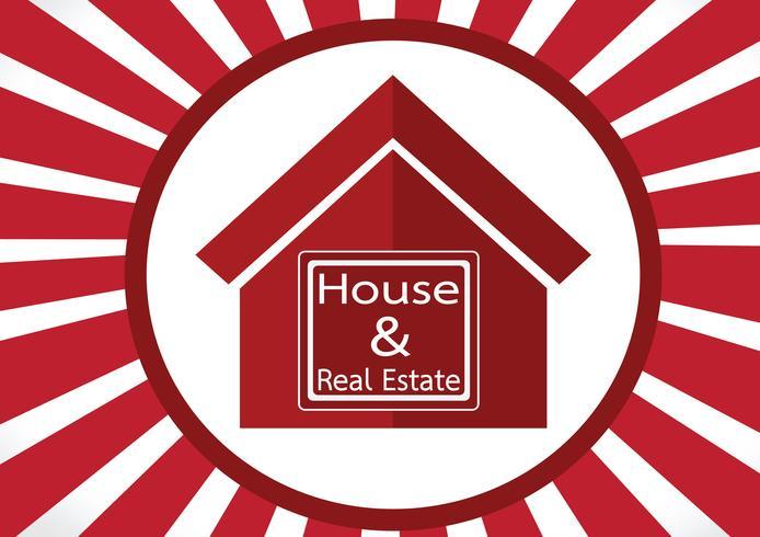 Real Estate House Building-Ikonendesign vektor
