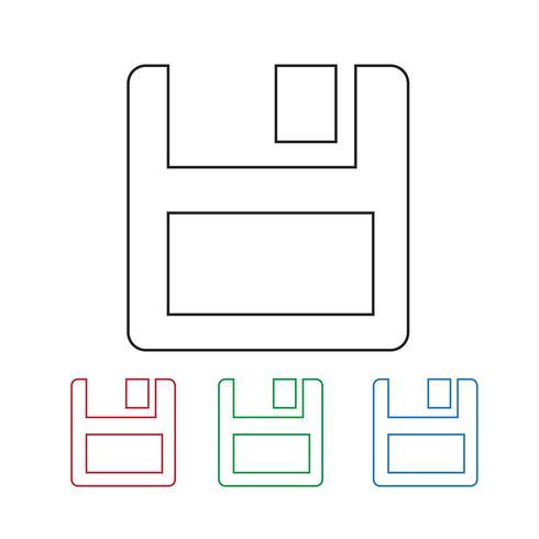 diskettikonen vektor
