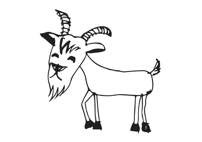 Ziege Cartoon Illustration vektor