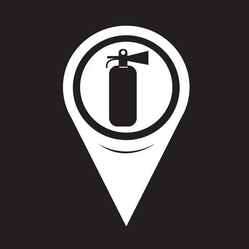 Kartenzeiger Feuerlöscher-Symbol vektor
