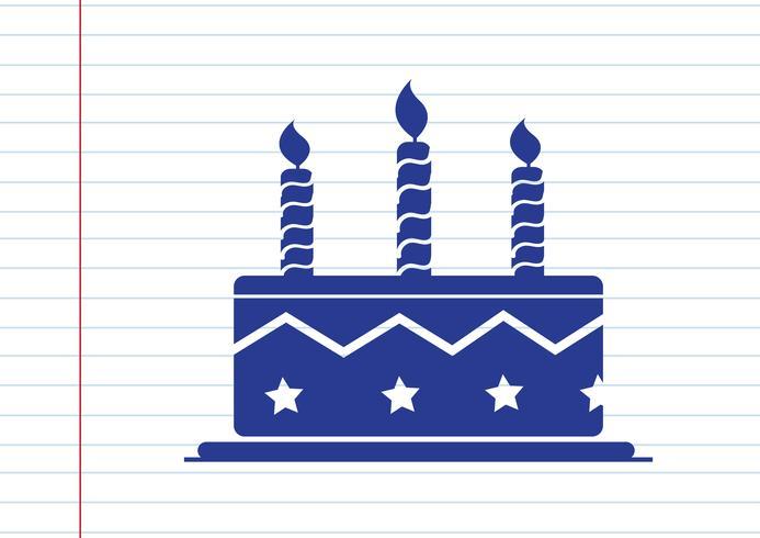 Födelsedagstårta ikon vektor
