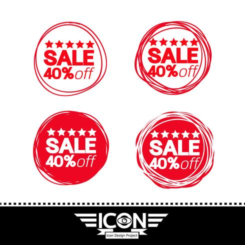 Verkauf Symbol Symbol Zeichen vektor