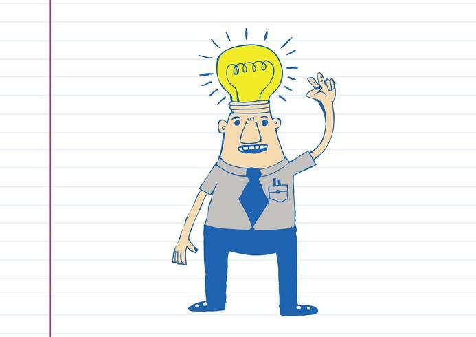 Denkstilillustration des Karikaturmannes vektor