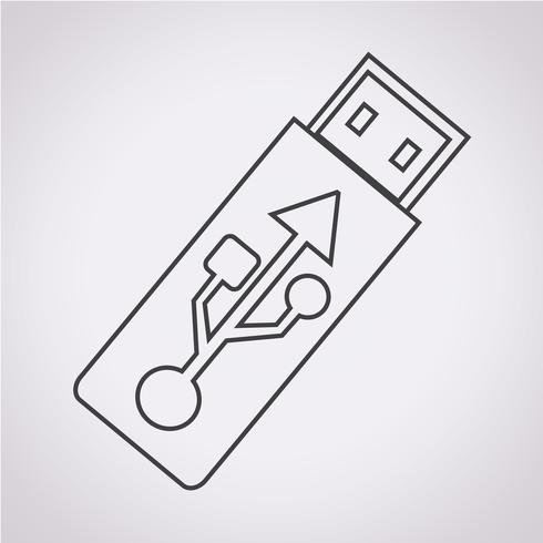 USB-Stick-Symbol vektor
