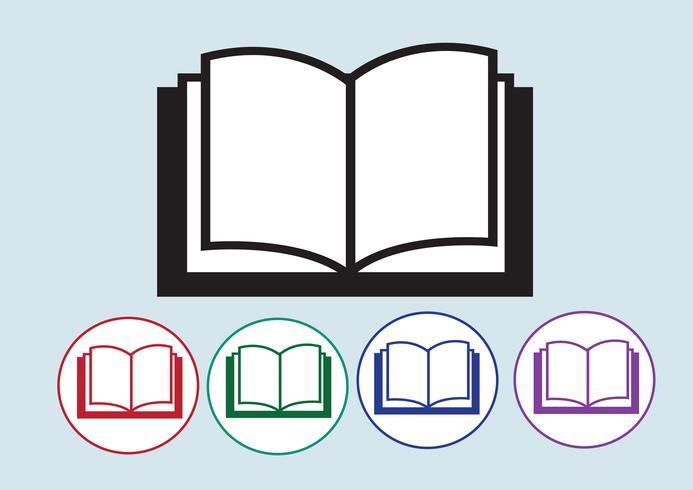 Bokikon symboltecken vektor