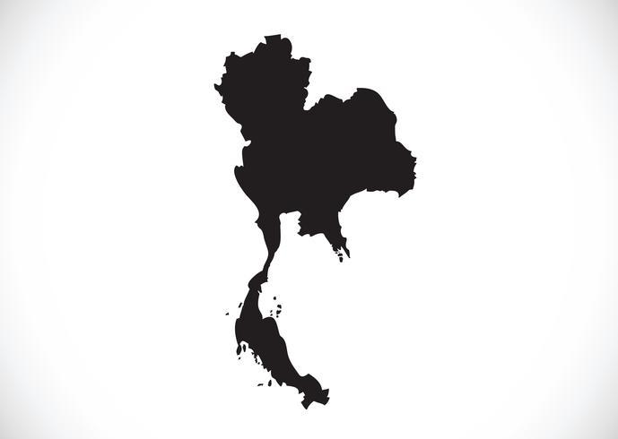 Thailand karta symbol tecken vektor