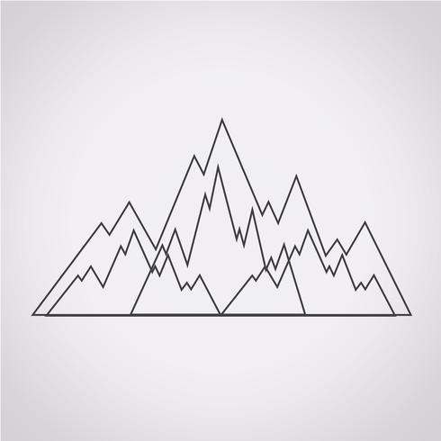 Berge Symbol Symbol Zeichen vektor