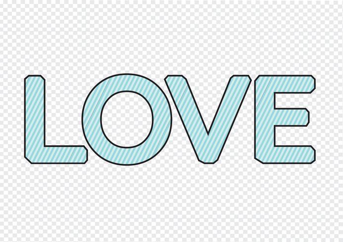 LIEBE Schriftart für Valentinstagskarte vektor