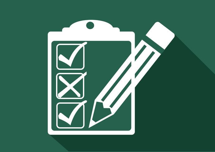 checklista ikon symbol tecken vektor
