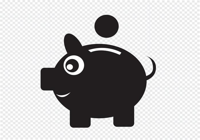 Sparschwein-Symbol-Zeichen vektor